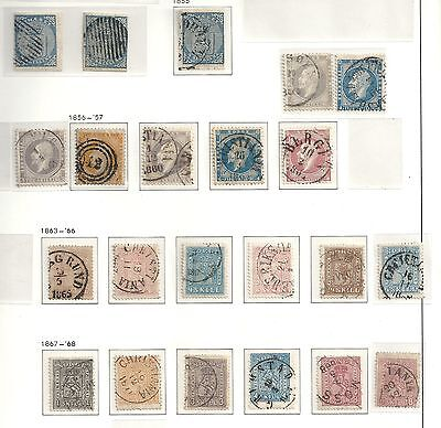 Norway stamps 1855 collection of 20 CLASSIC stamps YV 1-15  HIGH VALUE!