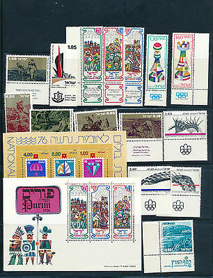 Israel 1976 Year Set  complete Full Tabs +s/sheets MNH