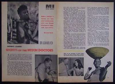 Witch Doctors Secrets in Modern Medicine 1954 pictorial