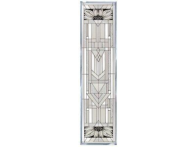 42x10 MISSION STYLE White Stained Art Glass Window Suncatcher
