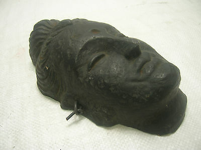 Mask Japanese Clay Vintage Theatrical Hand Made Unique #107