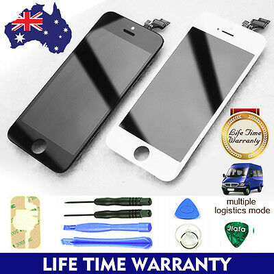 Black White Replacement Front Glass LCD Digitizer Screen For Apple iPhone 5 5S