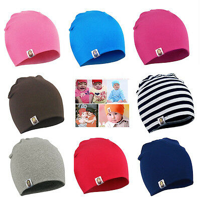 New Unisex Baby Boy Girl Toddler Infant Children Cotton Soft Cute Beanie Hat Cap