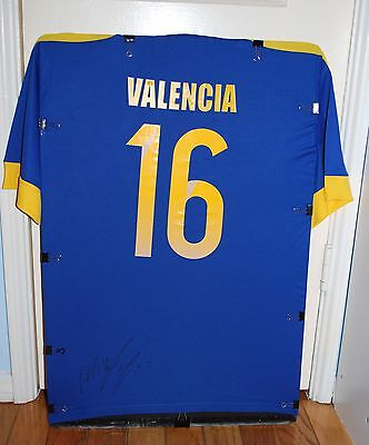 2014 Ecuador National Team Antonio Valencia Manchester United Sign Soccer Jersey