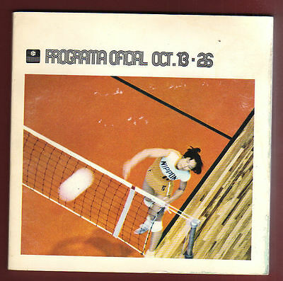Orig.Complete PRG   Olympic Games MEXICO 1968 - VOLLEYBALL  !!  EXTREM RARE