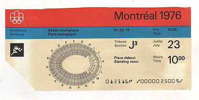 Orig.ticket   Olympic Games MONTREAL 1976 - ATHLETICS 23.07. / with Final`s  !!