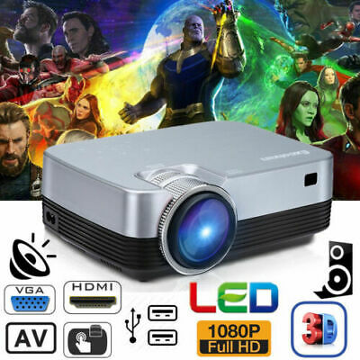 4K 3D 7000 Lumens Android 6.0 WiFi BT LED LCD Projector 1080P Home Theatre 8GB