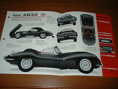 ★★1957 Jaguar Xkss Spec Sheet Brochure Poster Print Photo 56 57 58 Xk Ss Racing★