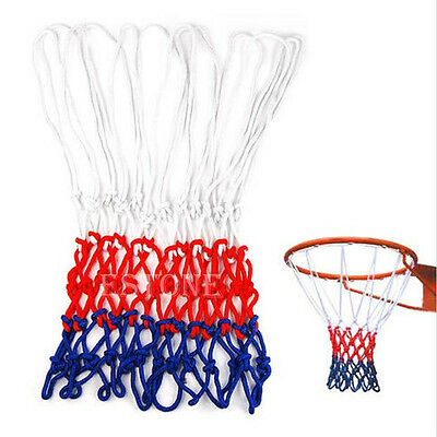 NEW Basketball Net Red White & Blue All Weather Hoop Goal Indoor Outdoor Quality