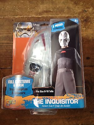 Star Wars THE INQUISITOR MASK AND COSTUME Size 8-10