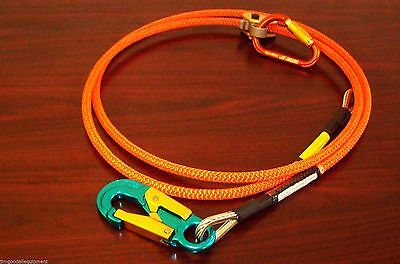 Tree Climber Wire Core Lanyard Kit, 1/2 x 8ft With Aluminum Snap,Made USA