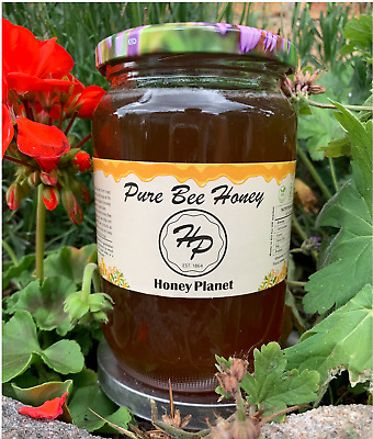 100%PURE RAW ORGANIC HONEY 1kg  (harvested 2016)
