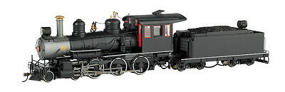 On30 Bachmann 28698 Black, Unlettered W/Steel Cab W/ Painted Trim - 4-6-0 - DCC