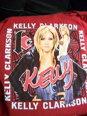 Kelly Clarkson Angel Eyes 2005 concert tour 2 Sided shirt Small