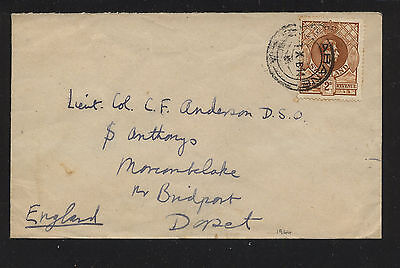 Swaziland   cover to  England   2d  stamp      MS1224