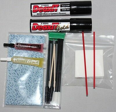 4 pack Deoxit and Gold - 14g spray and 2ml tube with extras - Intl Shipping