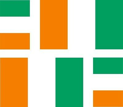 BRAND NEW BEST QUALITY IRELAND IVORY COAST FLAG VINYL BUMPER STICKER ADHESIVE