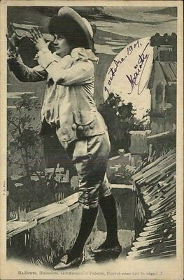 French Woman Clown Pierrot c1905 Postcard