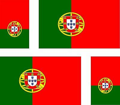 Set of 4x sticker vinyl car bumper decal outdoor car moto world flag portugal