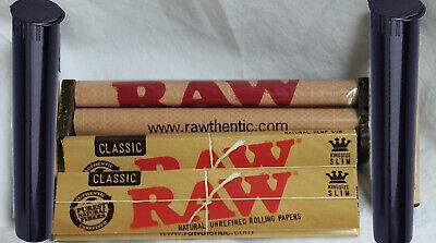 big raw deal 110mm RAW ROLLER +2 lighters+2 RAW KING SIZE SLIM Rolling Papers