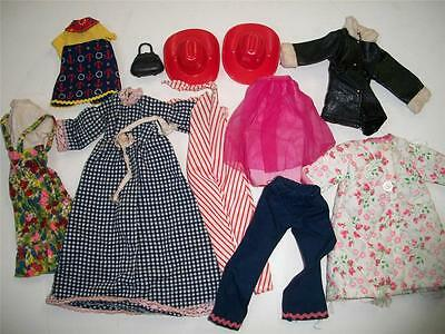 "11 pieces doll clothing 9 "" dresses vintage cowboy hat 1950s barbie"