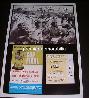 QUEENS PARK RANGERS FC 1967 LEAGUE CUP WINNERS SIGNED x 12 (PRINTED) EXCLUSIVE