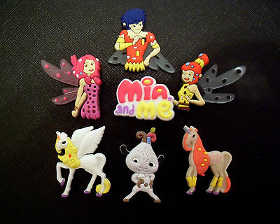 7 x Mia and Me Croc Shoe Charms Crocs Jibbitz Toppers Decorations