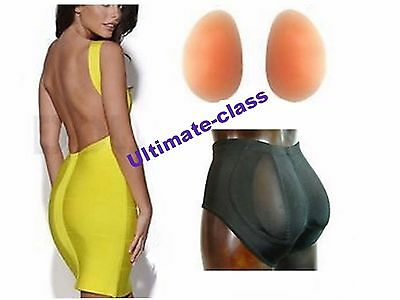 Seamless silicone buttocks padded Hip Up panties enhanced butt enlargement 300 g