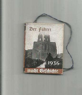 """WHW Winter Relief booklet; """"The Leader Makes History, 1936"""" Third Reich Germany"""