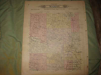 Antique 1895 Alba Carthage Marion Township Jasper County Missouri Handcolor Map