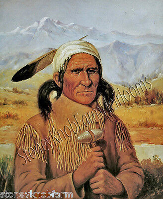 Geronimo ~ American West, Native American ~ Counted Cross Stitch Pattern Chart