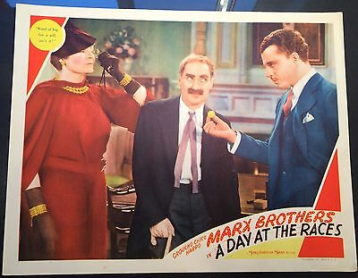 """Marx Brothers """"A Day At The Races"""" ORIGINAL 1937 lobby card  GROUCHO MARX"""