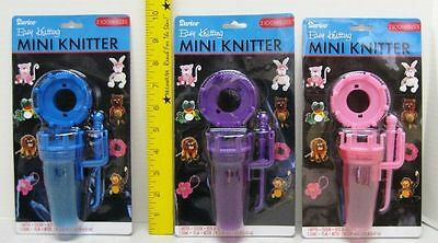 Easy Knitting Mini Knitter with 2 Looms - 3 Color Choices Knit Crochet fnb