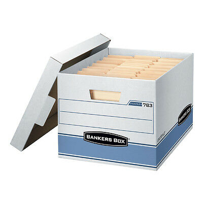 """Bankers Box Heavy Duty Document File Storage Boxes - 10 Pack  - 10"""" x 12"""" x 15"""""""