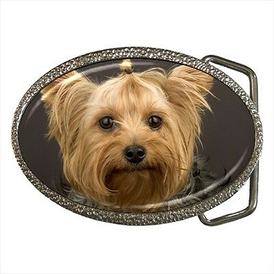 Yorkshire Terrier Yorkie Dog Lover Belt Buckle Silver Metal