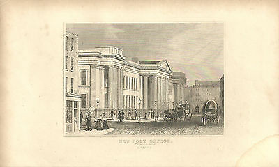 Print Engraving New Post Office St Martins Le Grand London