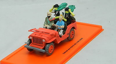 Modelcar Scale 1/43 Moulinsart TINTIN Tim and struppi Jeep red operation Moon