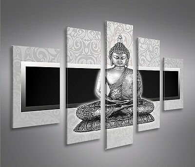 zen buddha feng shui 5 bilder auf leinwand bild wandbild poster kunstdruck eur 39 90 picclick de. Black Bedroom Furniture Sets. Home Design Ideas