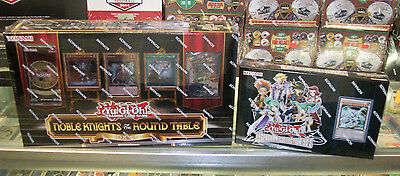YU GI OH LEGENDARY COLLECTION 5D'S BOX + NOBLE KNIGHTS OF ROUND TABLE BOX LOT