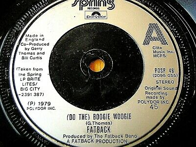 "Fatback - Do The Boogie Woogie   7"" Vinyl"