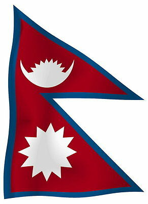 Sticker decal vinyl decals national flag car ensign bumper nepal