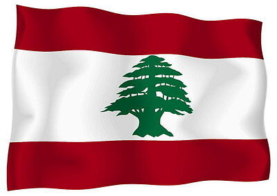 Sticker decal vinyl decals national flag car ensign bumper lebanon