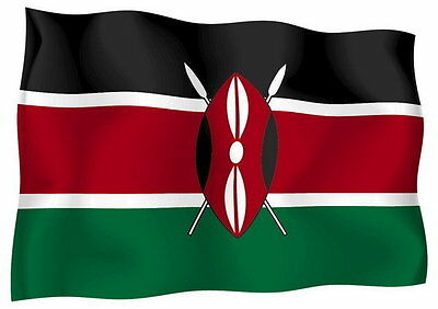 Sticker decal vinyl decals national flag car ensign bumper kenya kenyan