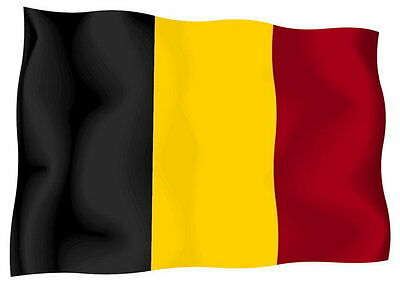 Sticker decal vinyl decals national flag car ensign bumper belgium