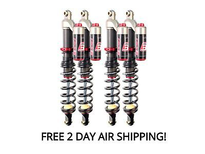 Elka Stage 3 Front And Rear Shocks Suspension Kit Grizzly 700 14-15 Free T-Shirt