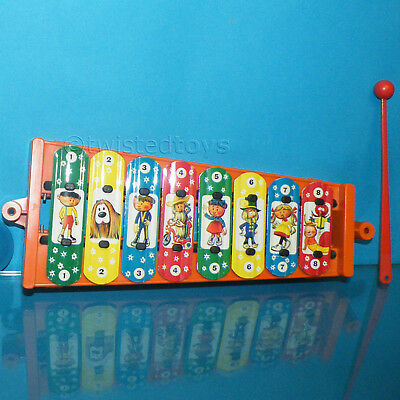VINTAGE MAGIC ROUNDABOUT DING DONG XYLOPHONE BOXED RARE