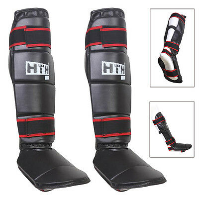 Boxing Shin Instep MMA Thai Kick Pads Leg Protector Martial Arts Training Guards