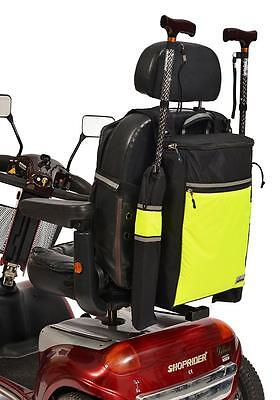 High-Vis Crutch Holder / Walking Stick Bag  For Mobility Scooter/wheelchair