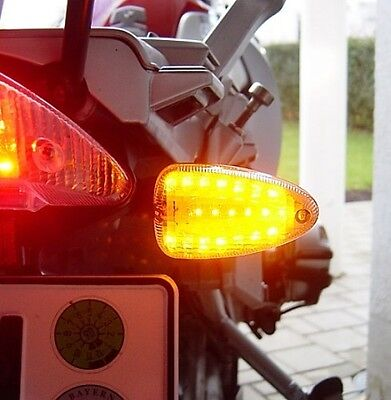 Led Blanche Clignotants BMW R 1200 Gs R 1200 R K 1200 R Transparent Led Signaux