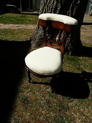 Rare Victorian Sewing Chair W/carved Detail & Storage